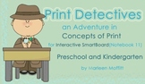 Print Detectives/Concept of Print for Interactive SmartBoard Notebook 11