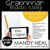 Print + Digital Fourth and Fifth Grade Grammar (Possessive Nouns)