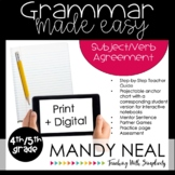Print + Digital Fourth and Fifth Grade Grammar (Subject Ve