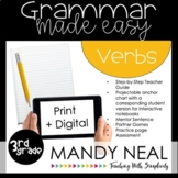 Print + Digital Third Grade Grammar (Verbs) | Distance Learning