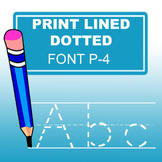 Print Dotted Lined Font