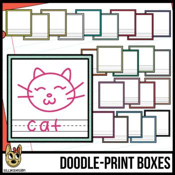Doodle & Print Boxes Clipart - Speckled