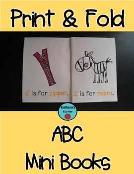 Print & Fold ABC Mini-Books