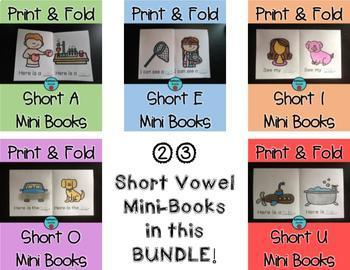 Print & Fold Short Vowel BUNDLE