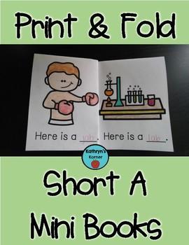 Print & Fold Short a CVC Mini-Books