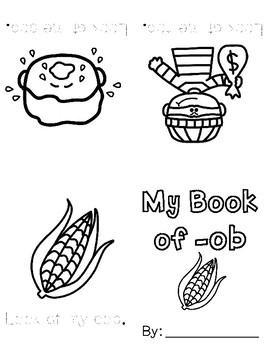 Print & Fold Short o CVC Mini-Books
