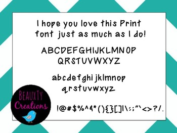 """""""Print"""" Font by BeauxTy Creations"""