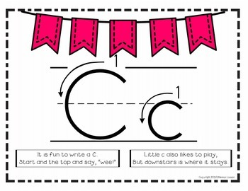Print Formation Handwriting Posters, Flashcards, and Mnemonics