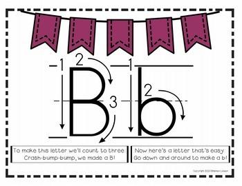 Print Handwriting Posters, Flashcards, and Mnemonics