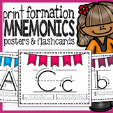 Print Handwriting Posters, Flashcards, and Mnemonics