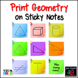 Print GEOMETRY Graphics on Sticky Notes - Post It Notes Templates
