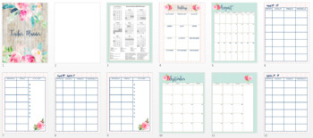 *SALE* Print & Go 2017-2018 Floral Teacher Planner