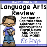 Print & Go 2nd Grade Daily Language Review {NO PREP}