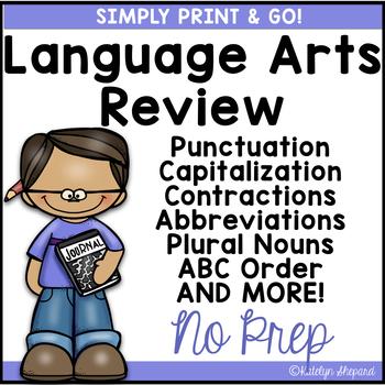 Print & Go 2nd Grade Daily Language Review {NO PREP}
