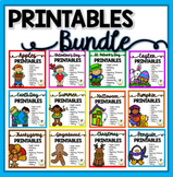 Printables Bundle - St. Patrick's Day, Easter, Earth Day,
