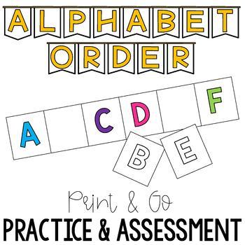 Print & Go Alphabet Order Practice & Assessment