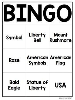Print & Go American Symbols BINGO