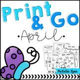 April No Prep Kindergarten
