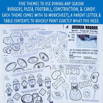 Articulation Spinner Worksheet BUNDLE - Print & Go Speech Therapy Activities