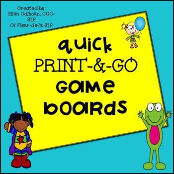 Print-&-Go BOARD GAMES