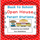 Print & Go! Back to School Open House Parent Stations