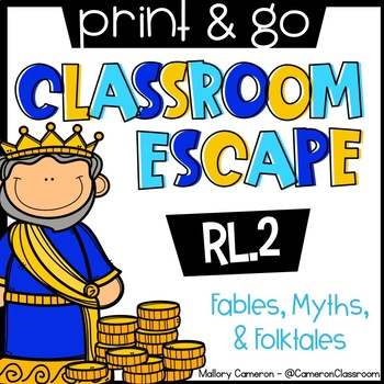 Print & Go Classroom Escape Room: Reading - Fables, Folktales, and Myths (RL.2)
