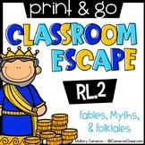 Print & Go Escape Room: Fables, Folktales, and Myths (RL.2)