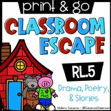 Print & Go Escape Room: Stories, Poetry, & Drama (RL.5)