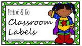 Print & Go Classroom Labels