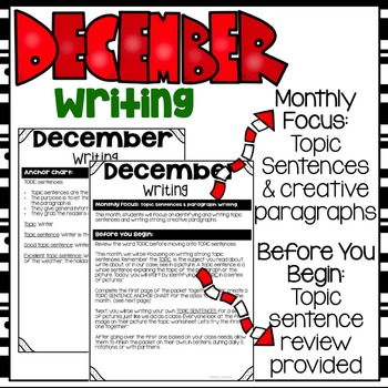 Print & Go December Writing Packet