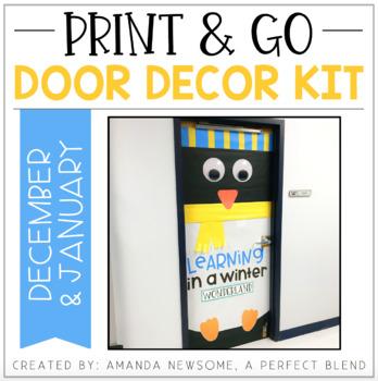 Print & Go Door Decor Kit: December/January