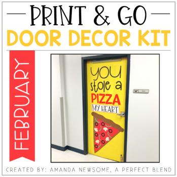 Print & Go Door Decor Kit: February