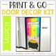 Print & Go Door Decor Kit: Growing Bundle