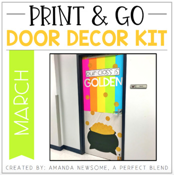 Print & Go Door Decor Kit: March
