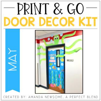 Print & Go Door Decor Kit: May