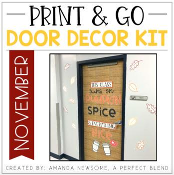 Print & Go Door Decor Kit: November