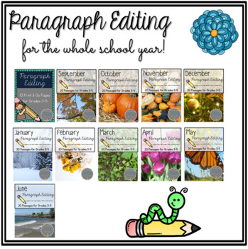 Print & Go Paragraph Editing GROWING BUNDLE for the school year
