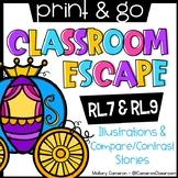Print & Go Escape Room - Illustrations & Compare/Contrast Stories (RL.7 & RL.8)