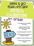 Print & Go Escape Room - Math - Beach Back to School