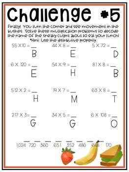Print & Go Escape Room - Math Review - Picnic