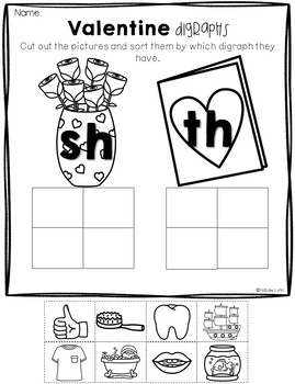 February No Prep Math and Literacy Worksheets for Kindergarten