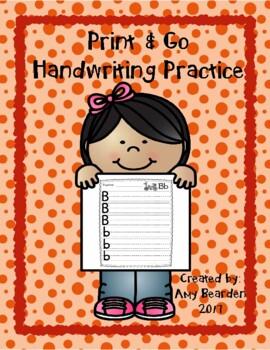 Print & Go Handwriting Practice
