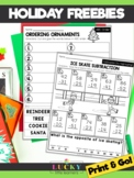 Print & Go Holiday Sheets FREEBIE