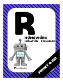 Print & Go: Letter R (Isolation & Syllables)