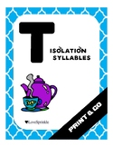 Print & Go: Letter T (Isolation & Syllables)