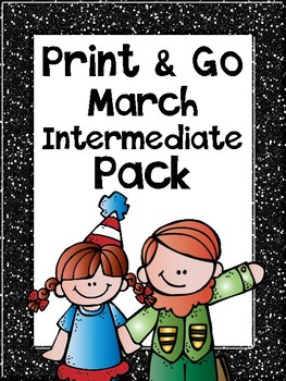 Print & Go MARCH Intermediate Math & Literacy Pack
