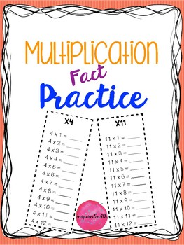Print & Go Multiplication Fact Practice