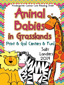 Print & Go Pack! Animal Babies in Grasslands {Common Core