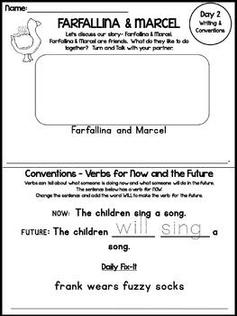 Print & Go Pack! FARFALLINA & MARCEL {Kindergarten Common Core Reading Street}