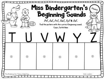 Print & Go Pack! Miss Bindergarten Takes a Field Trip with Kindergarten